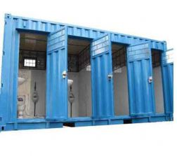 Container toilet 20 feet